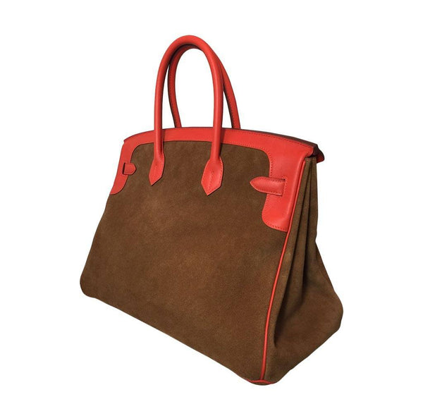 Hermes Birkin 35 Grizzly New Side