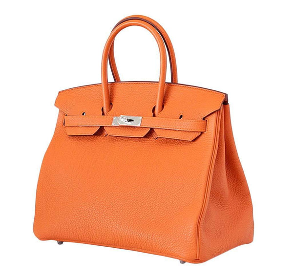 Hermes Birkin 35 H Orange New Front Side