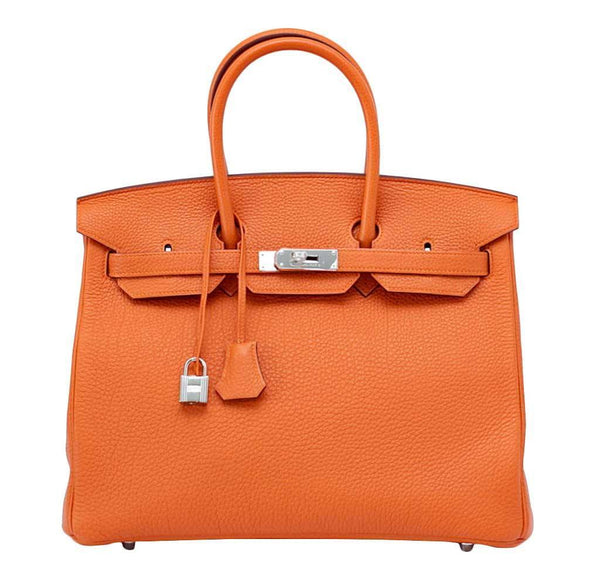 Hermes Birkin 35 Bag Orange Togo