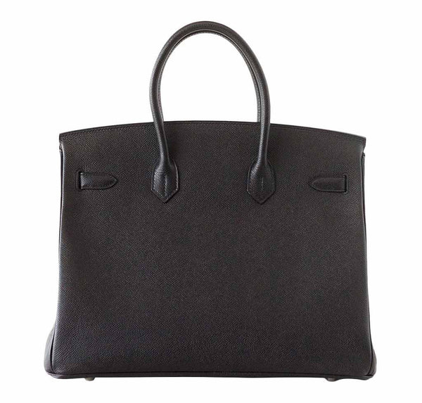 Hermes Birkin 35 Jet Black New Back