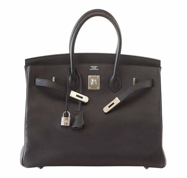 Hermes Birkin 35 Jet Black New Front Open