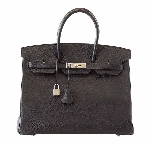 Hermes Birkin 35 Jet Black Bag
