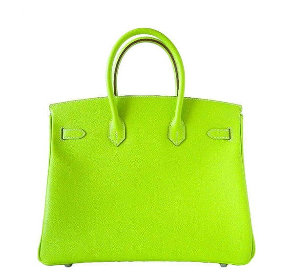 Hermes Birkin 35 Kiwi Candy Series New Back