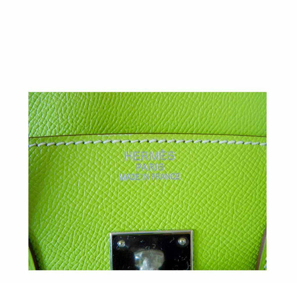 Hermes Birkin 35 Kiwi Candy Series New Embossing