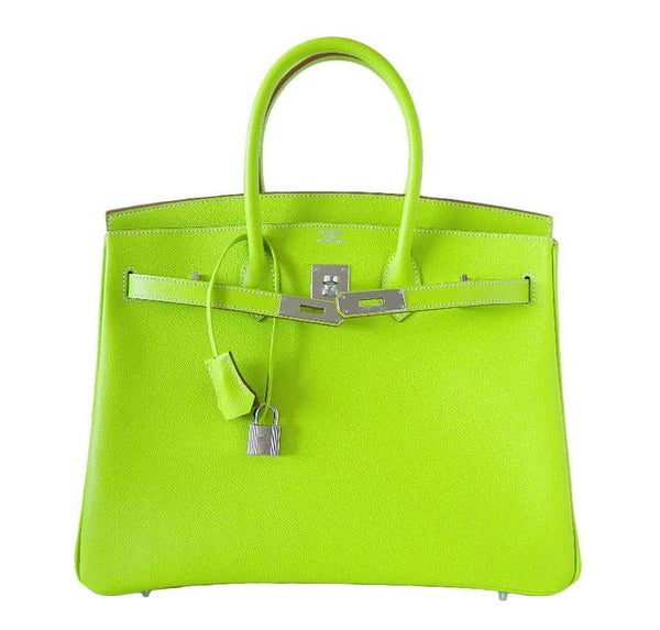 Hermes Birkin 35 Kiwi Candy Series New Front Open