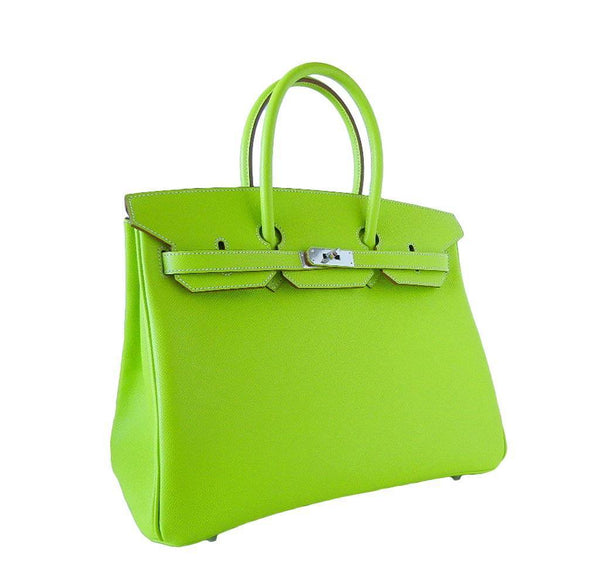 Hermes Birkin 35 Kiwi Candy Series New Side