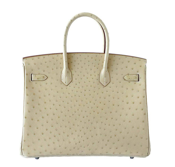 Hermes Birkin 35 Ostrich Parchemin New Back