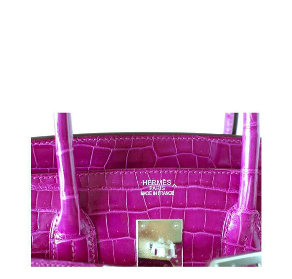 Hermes Birkin 35 Rose Crocodile New Embossing