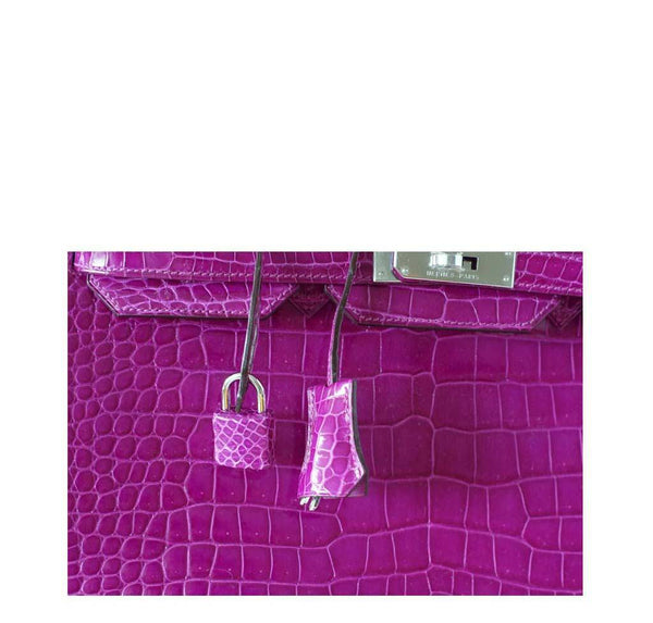 Hermes Birkin 35 Rose Crocodile New Lock