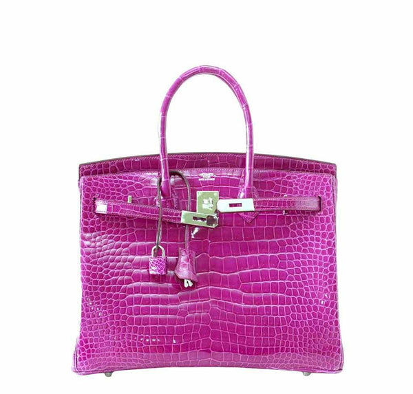 Hermes Birkin 35 Rose Crocodile New Open