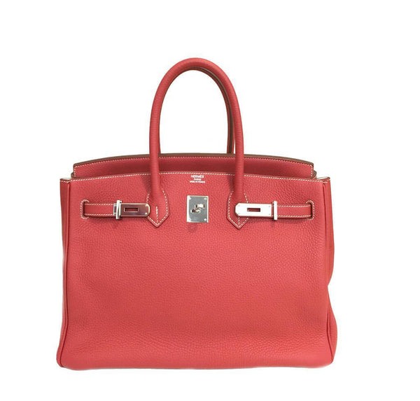 Hermes Birkin 35 Sanguine White Limited Edition Used Open