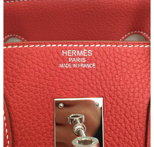 Hermes Birkin 35 Sanguine White Limited Edition Used Embossing