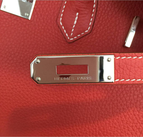 Hermes Birkin 35 Sanguine White Limited Edition Used Engraving