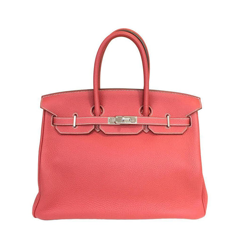 Hermes Birkin 35 Sanguine White Bag