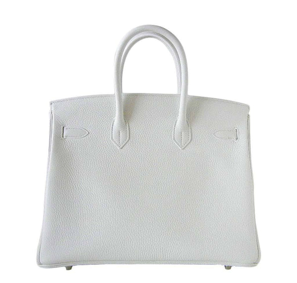 Hermes Birkin 35 White Club Lizard New Back