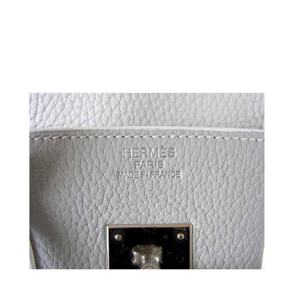 Hermes Birkin 35 White Club Lizard New Embossing