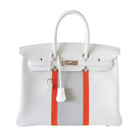 Hermes Birkin 35 White Club Bag