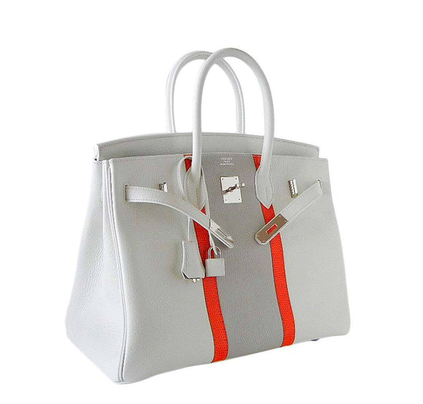 Hermes Birkin 35 White Club Lizard New Side