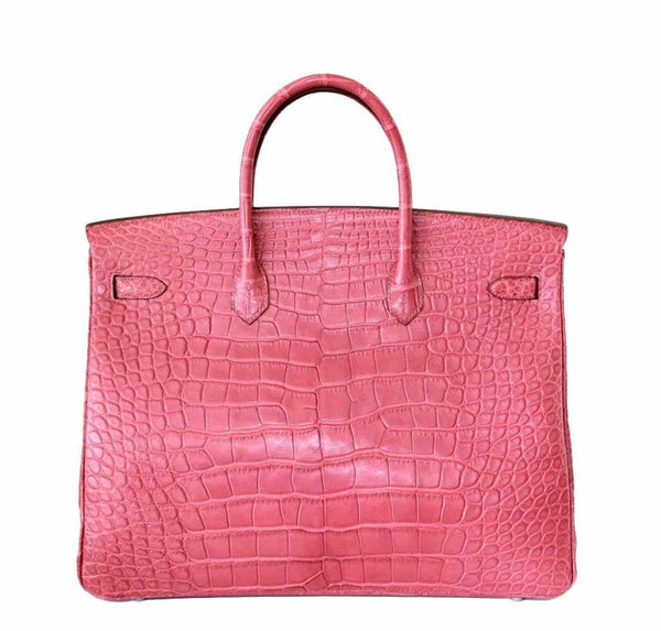Hermes Birkin 40 Alligator Boise De Rose New Back