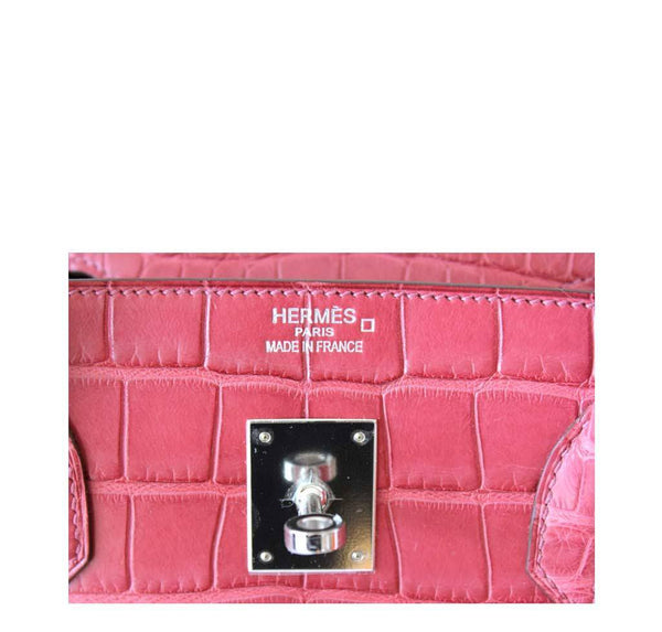 Hermes Birkin 40 Alligator Boise De Rose New Embossing