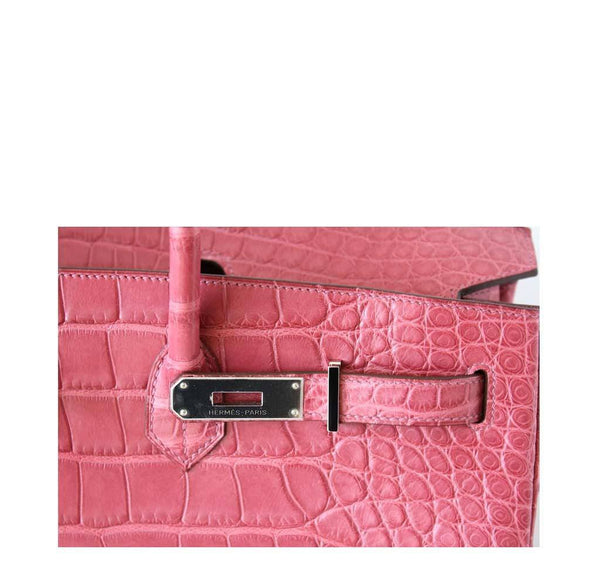 Hermes Birkin 40 Alligator Boise De Rose New Engraving
