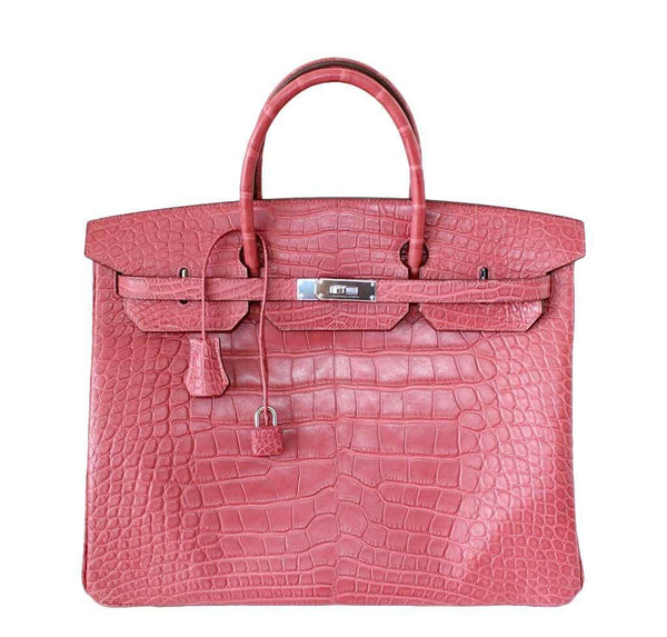Hermes Birkin 40 Pink Alligator Bag
