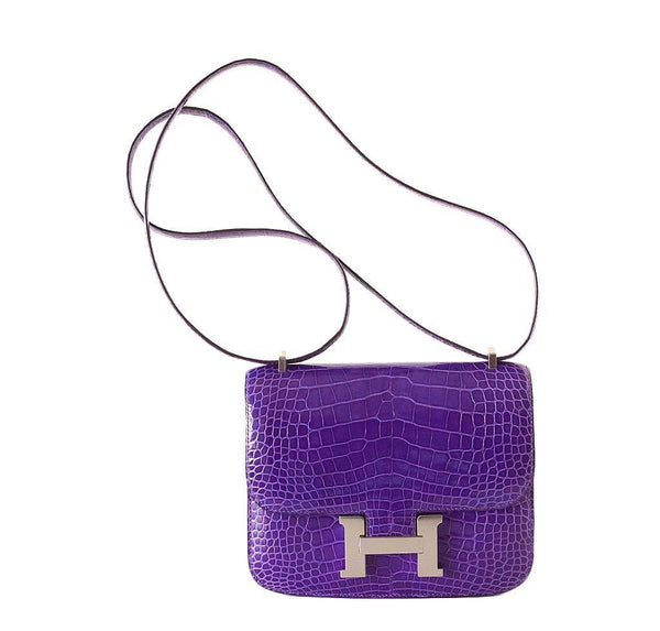 Hermes Constance 18 Alligator Violet Bag