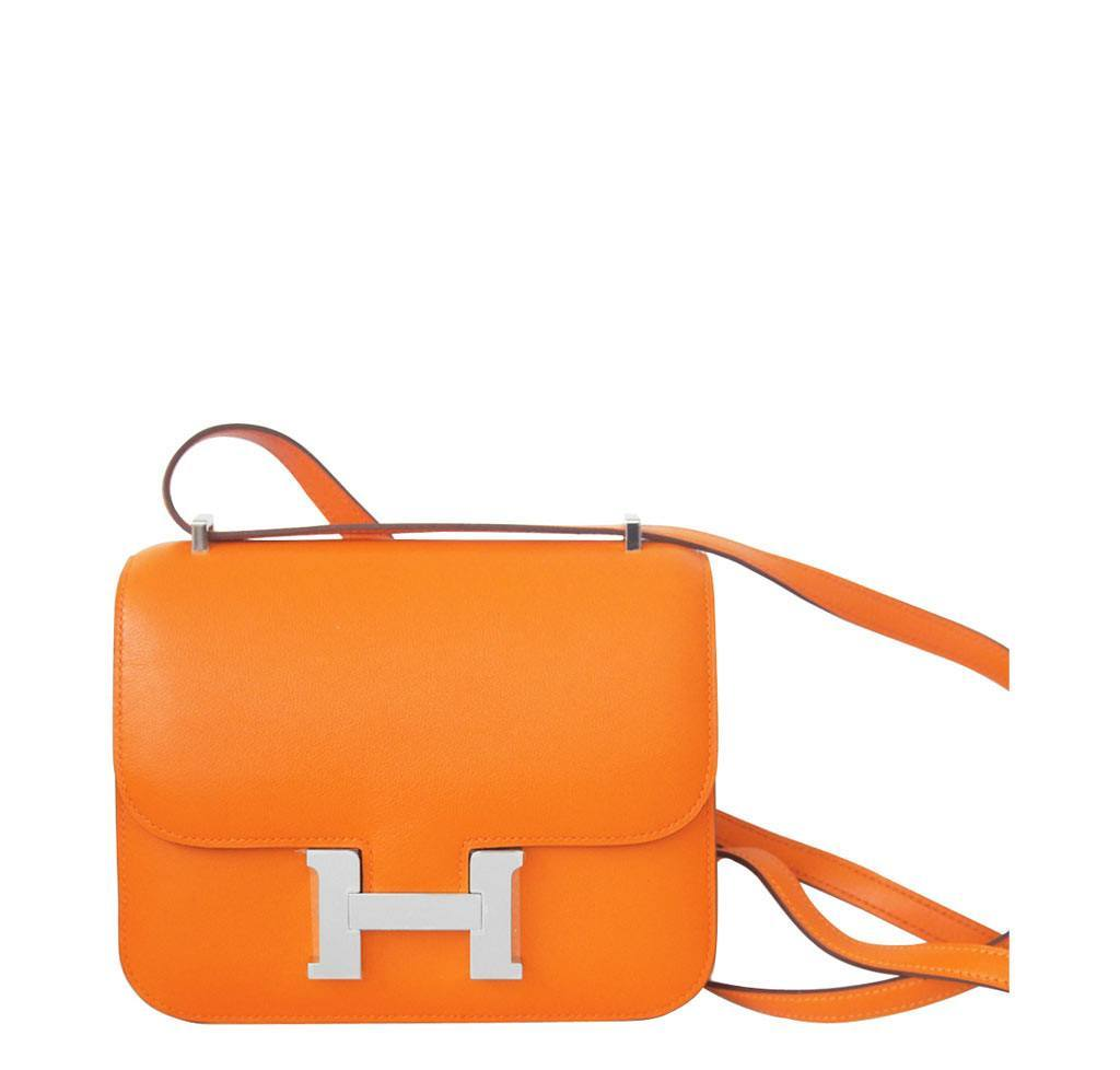 fac7f1383d2a Hermès Constance Mini 18 in Orange Swift PHW