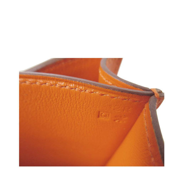 Hermes Constance Mini Orange New Stamp