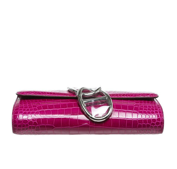 Hermes Egee Clutch Rose Scheherazade New Bottom
