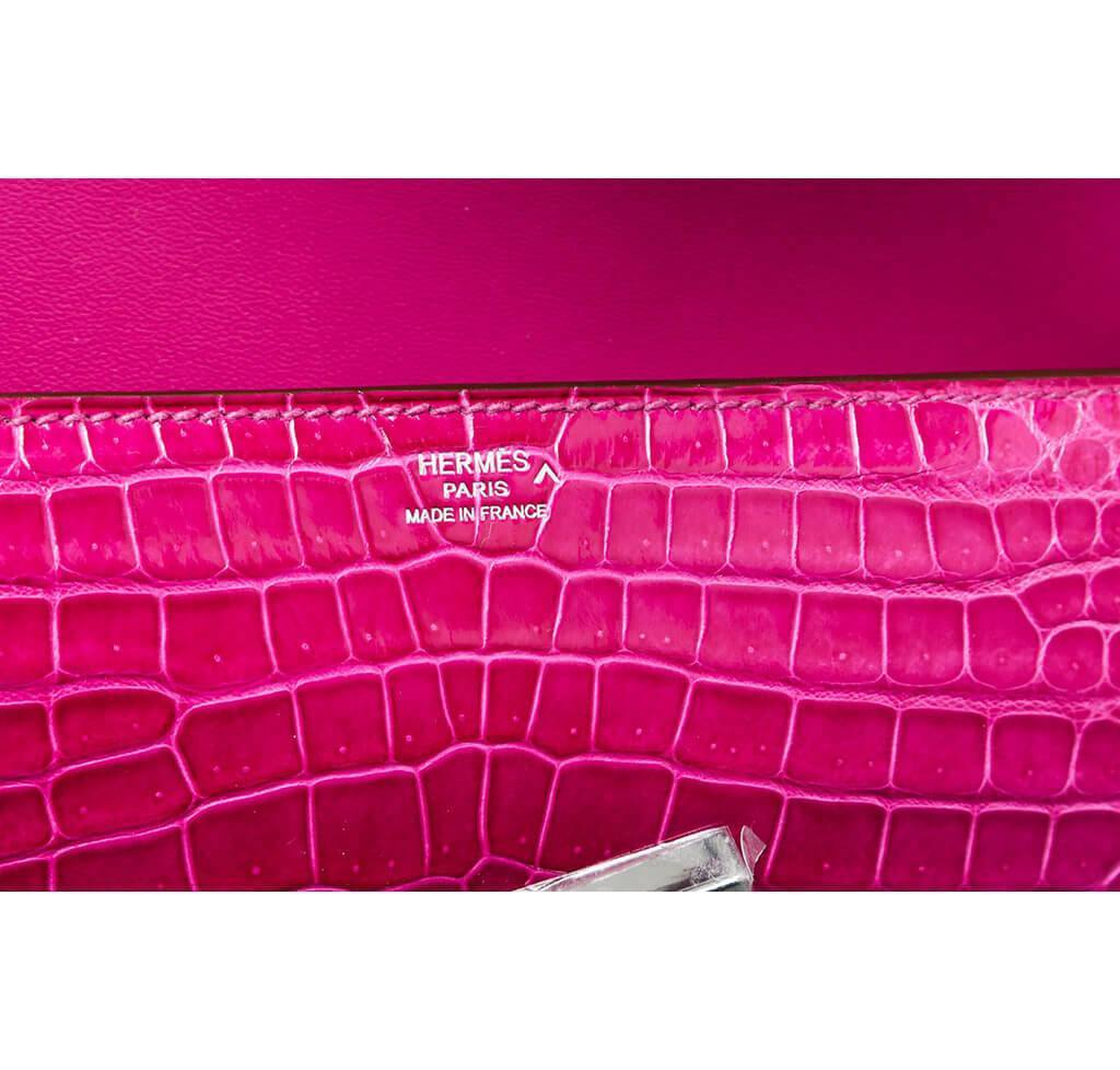 60bfe85c1258 ... Hermes Egee Clutch Rose Scheherazade New Embossing ...