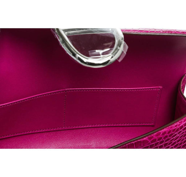 Hermes Egee Clutch Rose Scheherazade New Inside