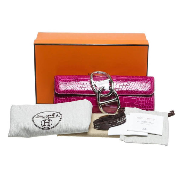 Hermes Egee Clutch Rose Scheherazade New Overview