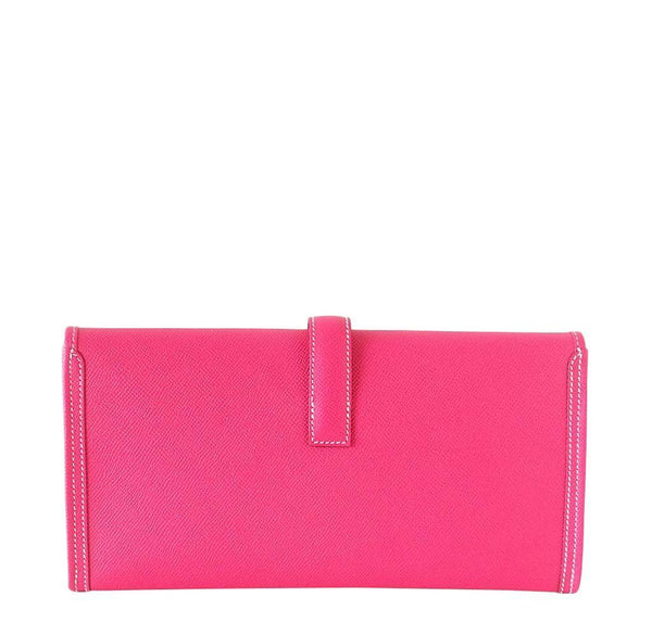 Hermes Jige 29 Rose Tyrien Clutch New Back