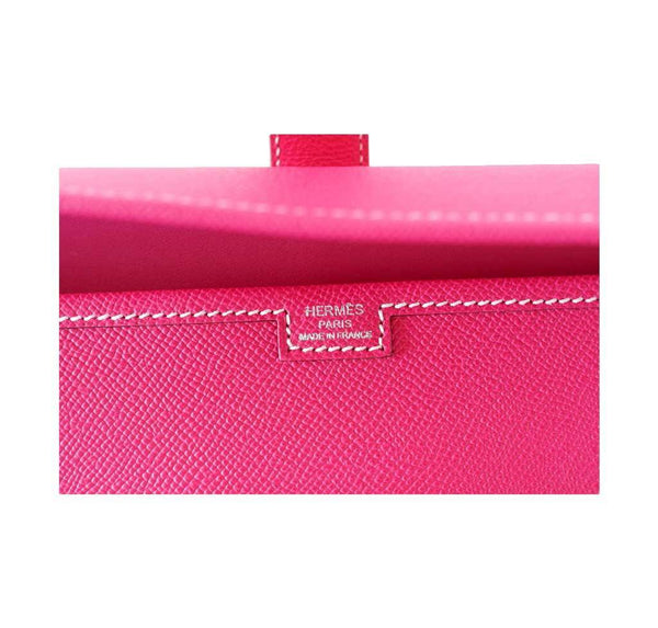 Hermes Jige 29 Rose Tyrien Clutch New Embossing