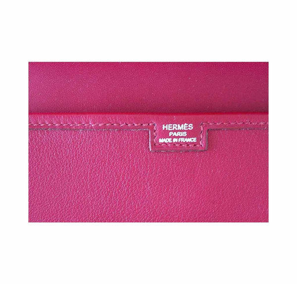 Hermes Jige 29 Rubis Clutch New Embossing