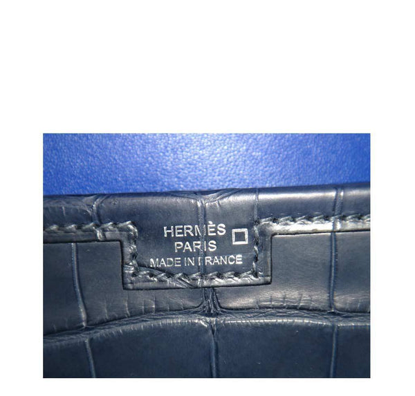 Hermes Jige Alligator Blue Indigo New Embossing
