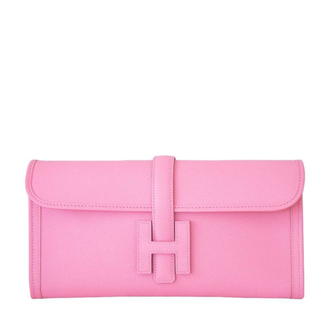 Hermes Jige 29 Pink Clutch Bag