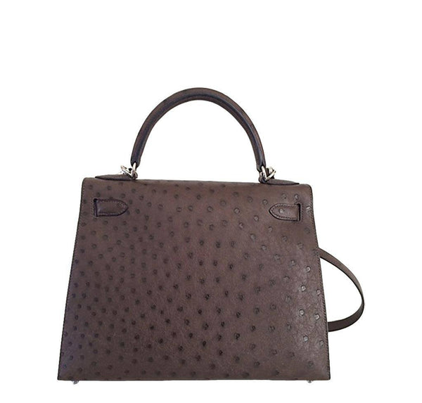 Hermes Kelly 28 Sellier Ostrich New Back
