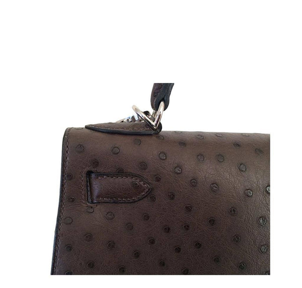Hermes Kelly 28 Sellier Ostrich New Detail