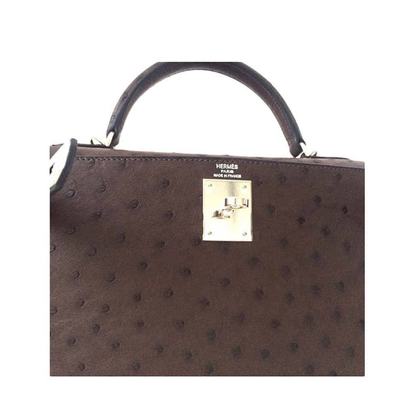 Hermes Kelly 28 Sellier Ostrich New Embossing
