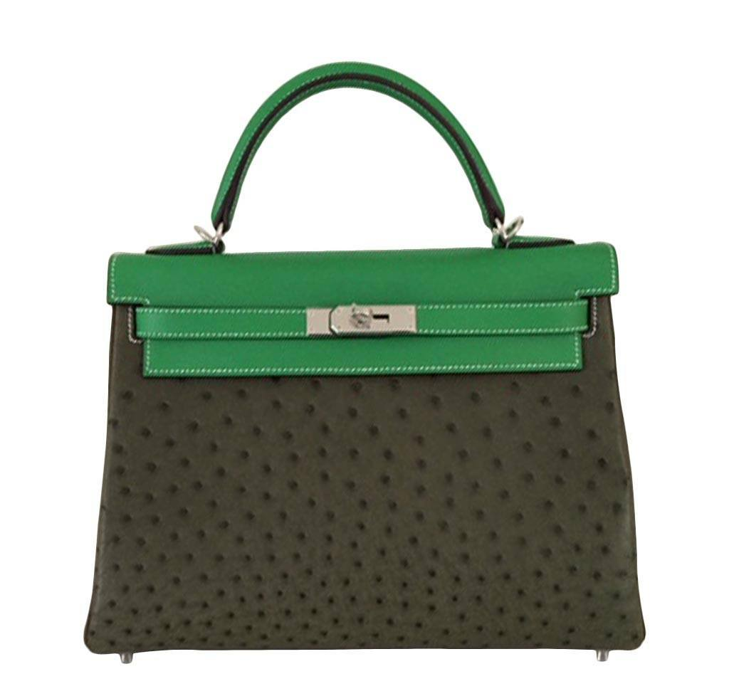 c8a6a93a82 Hermès Kelly 32 Tri-Color Ostrich Bag Limited Edition