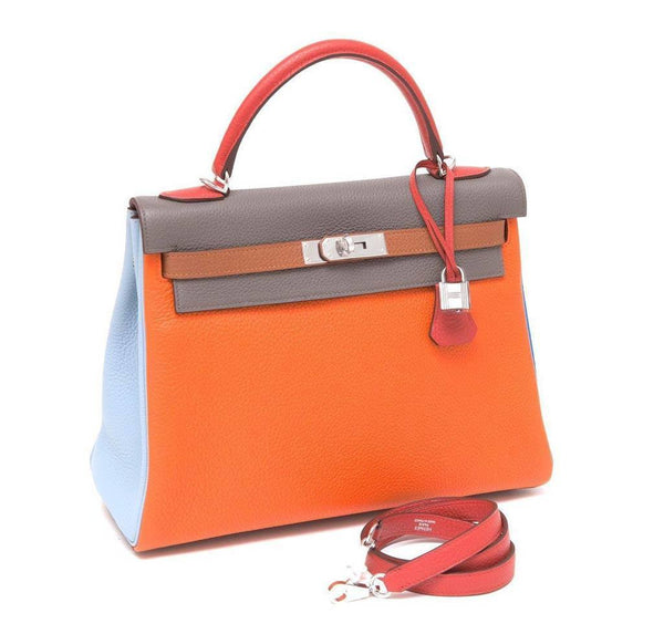 Hermes Kelly 32 Arlequin Bag