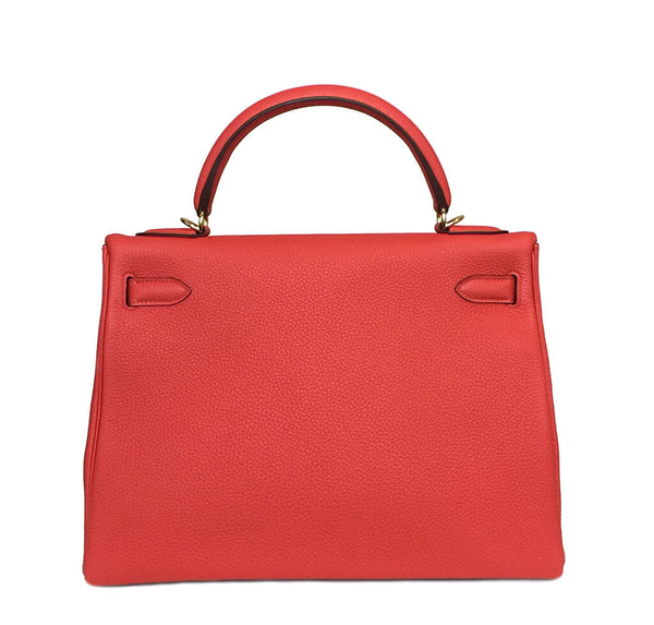 Hermes Kelly 32 Capucine New Back