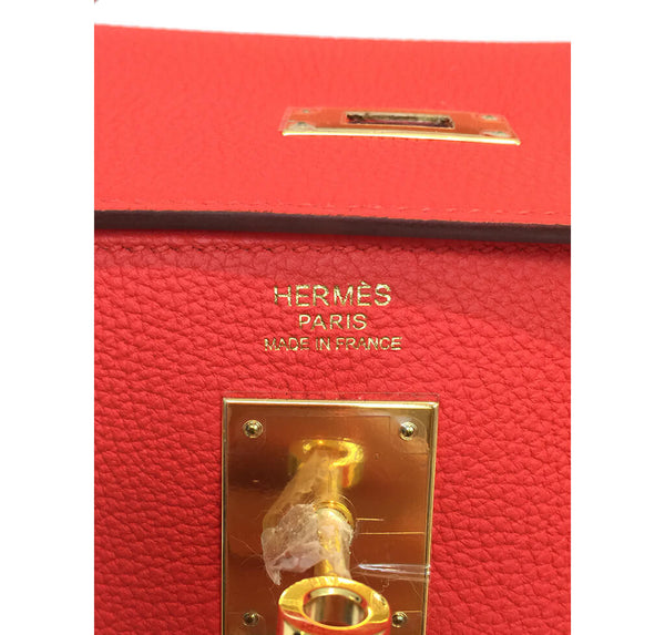 Hermes Kelly 32 Capucine New Embossing