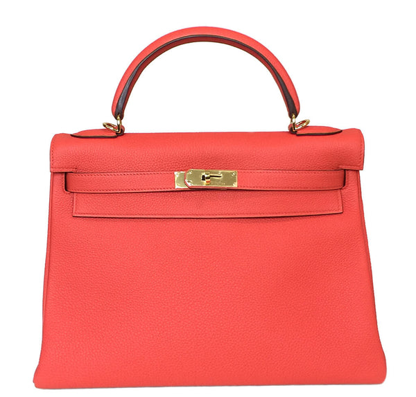 Hermes Kelly 32 Capucine Bag GHW