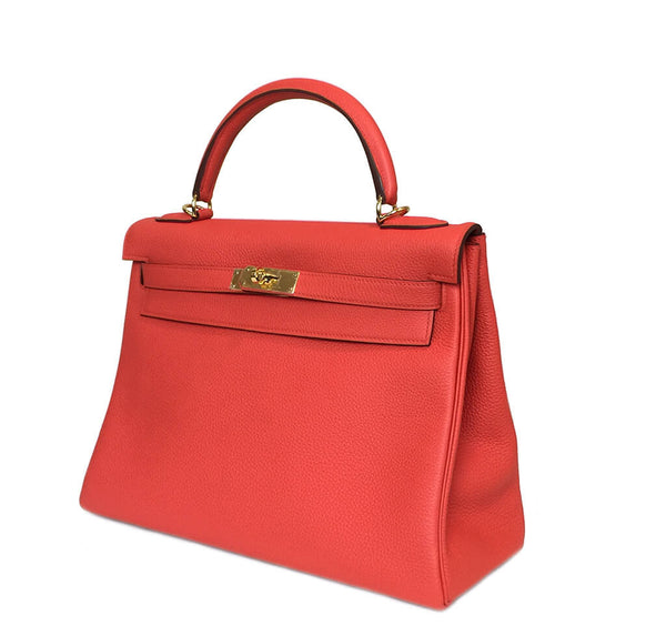 Hermes Kelly 32 Capucine New Side