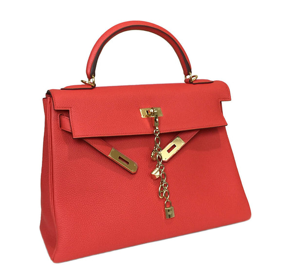 Hermes Kelly 32 Capucine New Side Open