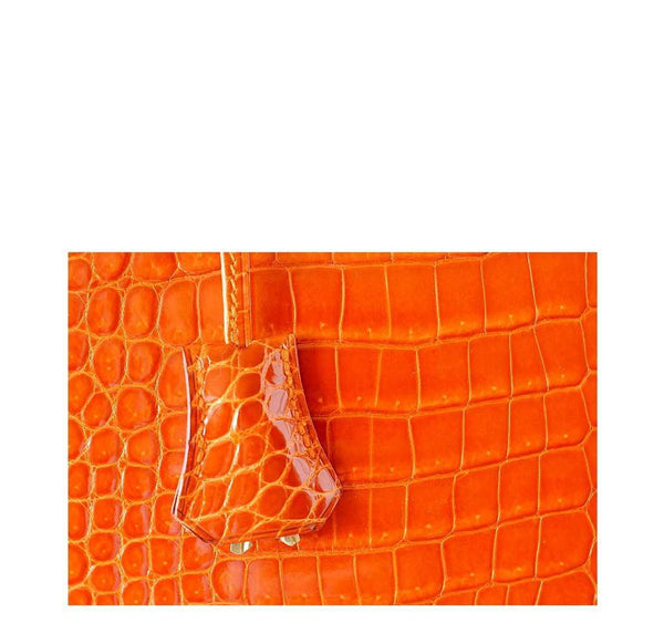 Hermes Kelly 32 Crocodile Used Clochette