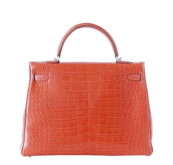 Hermes Kelly 35 Alligator Sanguine New Back